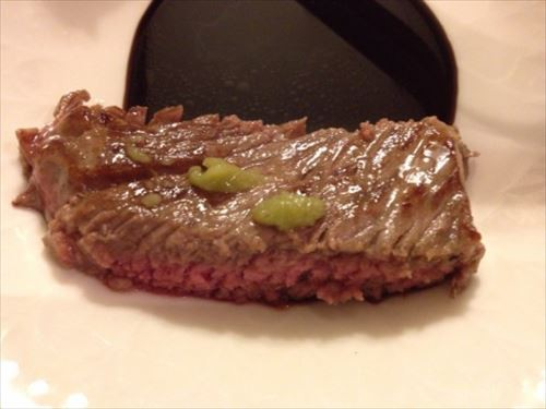 サーロインステーキ わさび醤油