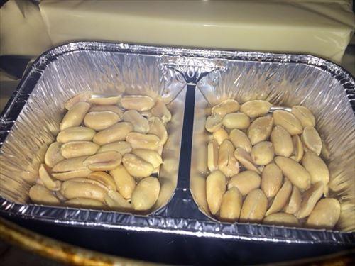 燻製バターピーナッツ 燻製中
