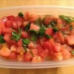 さっぱり美味しい トマトと大葉のやさしいお酢マリネ